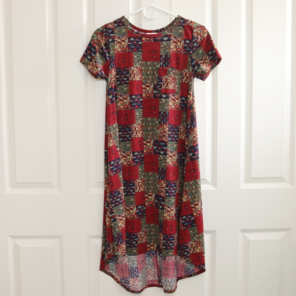4ba2b65e8960 LuLaRoe Dresses & Skirts - LuLaRoe Carly Patchwork Pattern XXS